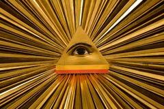 Strahlen, die von einem Auge bersten Stockfotos