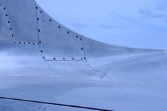 Strahlen-Flugzeug-Haut-Detail 2 Stockfotos