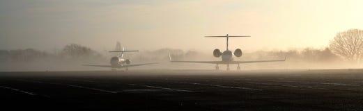 Strahlen im Nebel Lizenzfreies Stockfoto