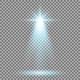 Strahlen Sie Glüheneffekt, Lichtstrahl, Aquafarbe an stock abbildung