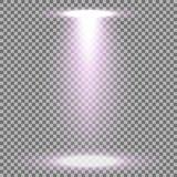 Strahlen Sie Glüheneffekt, Lichtstrahl, purpurrote Farbe an lizenzfreie abbildung