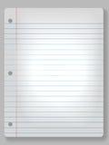Strahlen Sie Notizbuch-Papierhintergrund an Lizenzfreie Stockfotografie