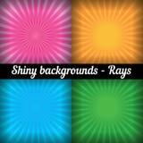 strahlen Sonnendurchbruch-Muster Vektorsatz von unterschiedlichem Stockbilder