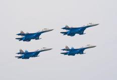 Strahlen Su-27 Russkie Vityazi vom Team Lizenzfreies Stockbild