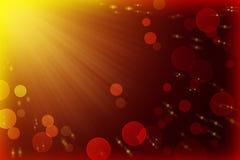 Strahlen von Licht-, bokeh- und Fliegenlichtern Festliches abstraktes backgro Stockfoto