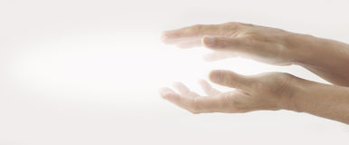 Strahlende heilende Energie Reiki Stockfoto