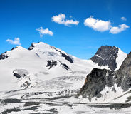 Strahlhorn and Rimpfischhorn in Pennine Alps Stock Image
