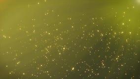 strahlt abstrakte goldene Partikel 4K mit Sun Bewegungs-Hintergrund aus stock video footage