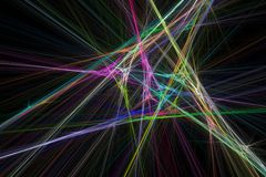 Strahlt Fractal aus Lizenzfreie Stockbilder