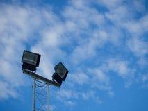 Strahlt Pfosten am Sportfeld an Lizenzfreie Stockbilder