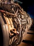 Strahltriebwerk auseinandergebaut lizenzfreie stockfotos