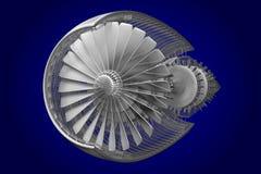Strahltriebwerk 3D Lizenzfreie Stockfotografie