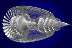 Strahltriebwerk 3D Stockbilder