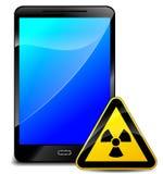 Strahlung mit Handy Lizenzfreies Stockfoto