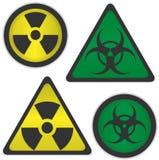 Strahlung und Biogefahr Stockbild