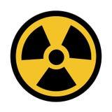 Strahlungs-Gefahrensymbol-Zeichen-Isolat auf weißem Hintergrund, Vektor-Illustration ENV 10 vektor abbildung
