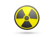 Strahlungs-Zeichen Stockfotografie