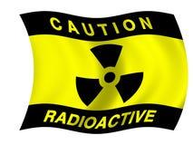 Strahlungsmarkierungsfahne lizenzfreie abbildung