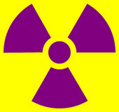 Strahlungssymbol Lizenzfreies Stockfoto