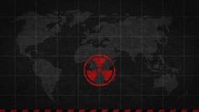 Strahlungszeichen-Gefahrenglobale Katastrophe lizenzfreie abbildung