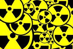 Strahlungszeichenhintergrund Stockfoto