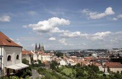 从Strahov修道院的布拉格视图 免版税库存照片