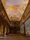 Strahov图书馆在布拉格。 库存图片
