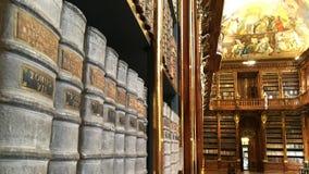 strahov de Prague de bibliothèque Photo libre de droits