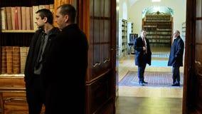 strahov de Prague de bibliothèque Photos stock