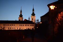 Strahov-Kloster in Prag bei Hradcany stockfotos