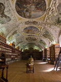 The Strahov Library in Prague. The Strahov Library in Prague is an important part of the Czech Republic history. Library with ancient books, old globes royalty free stock images