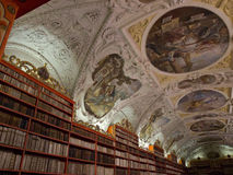 The Strahov Library in Prague. The Strahov Library in Prague is an important part of the Czech Republic history. Library with ancient books, old globes royalty free stock photography
