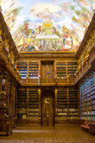 The Strahov Library in Prague. The Strahov Library in Prague is an important part of the Czech Republic history. Library with ancient books, old globes royalty free stock photo
