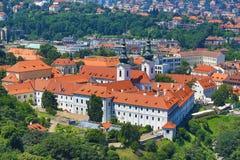 Strahov Manastery, Panorama of Prague, Czech Republic Royalty Free Stock Images