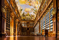 Strahov Monastery library interior Stock Image