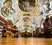 Strahov Monastery library interior, space Royalty Free Stock Image