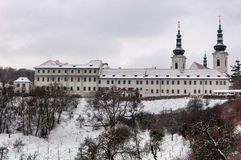 Strahov monastery, Prague, Czech republic. Strahov monastery in Prague, Czech republic in the winter Stock Photography