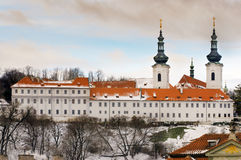 The Strahov Monastery in winter, Prague Royalty Free Stock Photos