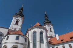 Strahovklooster, Praag, Tsjechische Republiek stock foto