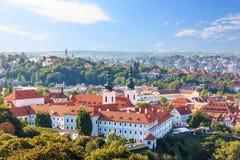 Strahovklooster van Praag, lucht de zomermening royalty-vrije stock fotografie