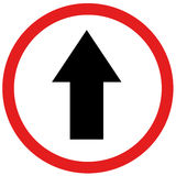 Straight ahead sign Stock Photo