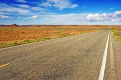 Straight Arizona Highway Stock Images