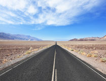 Straight as an arrow  smooth the road Royalty Free Stock Images