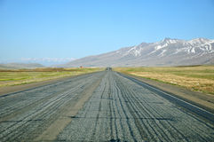 Straight asphalt highway Royalty Free Stock Photo