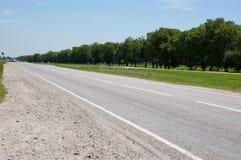 Straight asphalt road Stock Photography