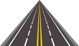 Straight asphalted road vector Royalty Free Stock Photography