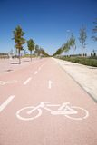 Straight bikeway Royalty Free Stock Images