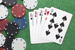Straight. Casino concepts Stock Image
