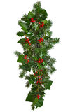 Straight Christmas garland isolated. Royalty Free Stock Image