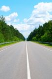 Straight Country Road. View to Straight Country road Royalty Free Stock Image